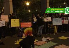 #NiUnaMenos: plantón en Miraflores previo a la marcha (VIDEO)
