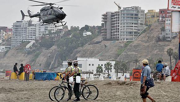 Plan verano 2015: con helicópteros vigilarán playas de Lima