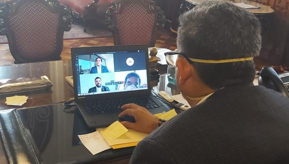 Mesa Directiva del Congreso realizó su primera sesión virtual. Tras la reunión, propone priorizar instalación de comisiones de Salud, Constitución y seguimiento al Covid-19 (Foto. Congreso)