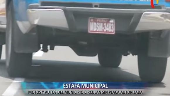 Las placas son colocadas por la propia Municipalidad de San Miguel. (Foto: Captura de video)