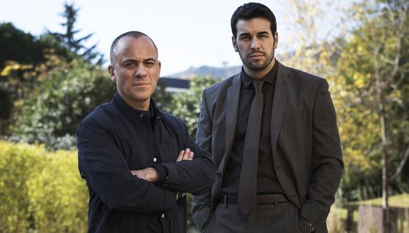 "Javier Gutiérrez Álvarez y Mario Casas en ""Hogar"". (Foto: Netflix)"