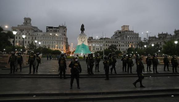 Pdro Castillo y Keiko Fujimori tenían previsto cerrar sus campañas en la Plaza San Martín, según anuncios desde ambos partidos. (Foto: Hugo Pérez / El Comercio)