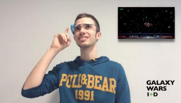 Galaxy Wars: El primer juego para Google Glass