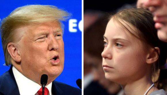 El cambio climático es el tema central en el Foro Económico Mundial de Davos. El presidente estadounidense, Donald Trump, y la joven activista sueca, Greta Thunberg, pronunciaron discursos opuestos en el mismo evento. (AFP)