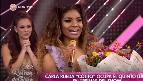 La voleibolista Carla 'Cotito' Rueda siguió en la competencia luego de ser salvada con un comodín la semana pasada. (Foto: Captura América TV)