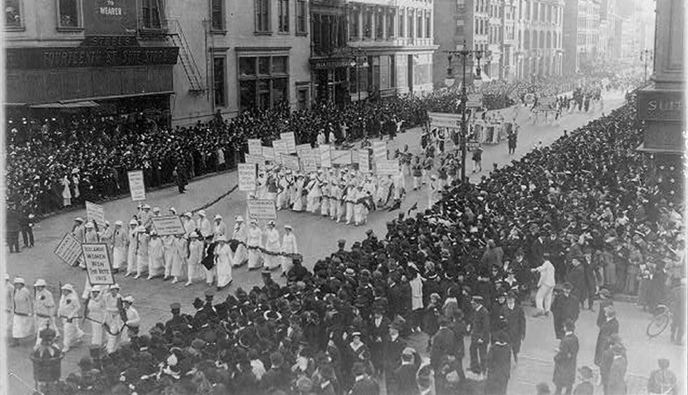 En 1869, Susan B. Anthony y Elizabeth Cady Stanton fundaron la National Woman Suffrage Association (Asociación Nacional para el Sufragio Femenino) en Estados Unidos. Dicho movimiento desencadenó una serie de protestas que buscaban legitimar el derecho al voto para las mujeres, que luego se replicaron en distintos países del mundo. (Foto: Wikimedia Commons)
