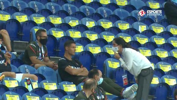 Le pidieron a Cristiano Ronaldo que se ponga la mascarilla. (Video: Esporte Interativo)