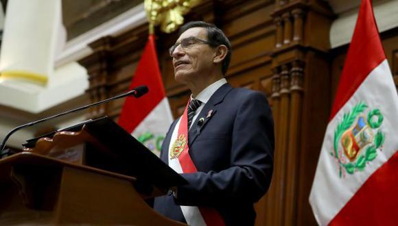 Martín Vizcarra anunció medidas para contener la crisis causada por la pandemia. (Foto: Presidencia)