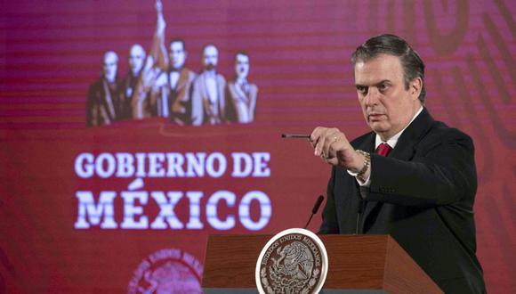 El canciller de México Marcelo Ebrard llevará ante la ONU un reclamo por el acceso inequitativo a las vacunas contra el coronavirus. (AFP).