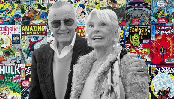 Stan Lee enviudó el año pasado tras la muerte de Joanie, su esposa durante casi siete décadas. (Foto: AFP/Composición)