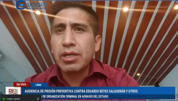 Poder Judicial evalúa pedido de prisión preventiva contra 20 investigados, entre ellos figuran el secretario de organización de Perú Libre, Arturo Cárdenas (Captura TV).