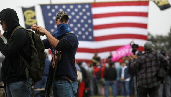 Los estadounidenses Proud Boys son uno de los grupos más famosos de extremistas blancos. (Foto: REUTERS/Leah Millis)