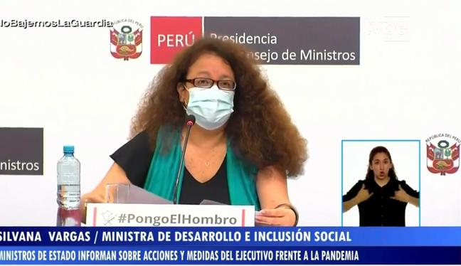 La ministra Silvana Vargas en su participación durante la conferencia de prensa. (Foto: captura FB PCM)