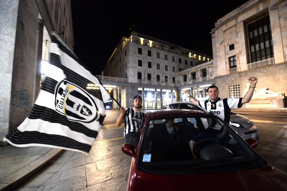 Así festejaron los hinchas de la Juventus el noveno 'Scudetto' consecutivo | Foto: REUTERS