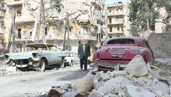 El coleccionista de autos de Alepo que no pierde su pasión