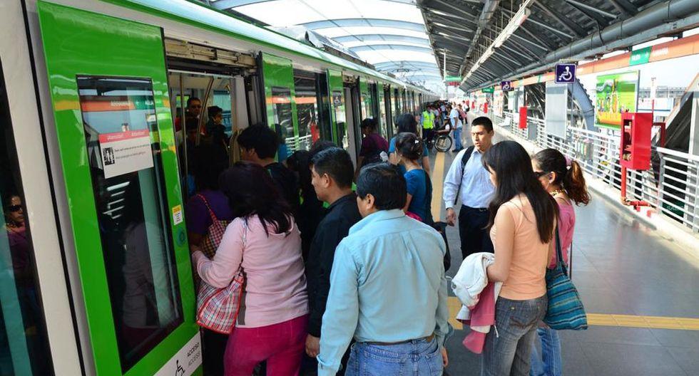 La Línea 1 del Metro de Lima instó a sus usuarios a tomar en cuenta la frecuencia de circulación de trenes por el feriado y evitar inconvenientes. (Difusión)