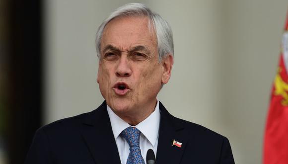 El presidente chileno, Sebastián Piñera, durante una conferencia en Santiago. (Foto: Johan ORDONEZ / AFP / Archivo).