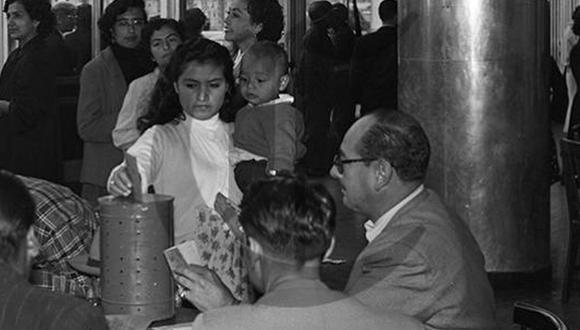 En el Perú, el voto femenino se instauró en el año 1955 | Foto: Archivo Histórico El Comercio