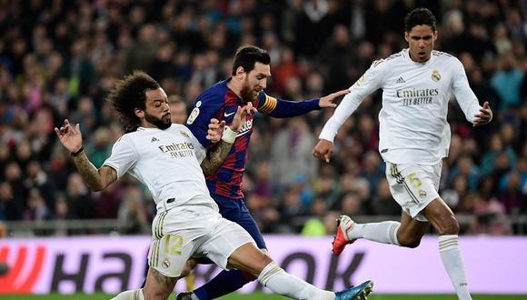 Barcelona vs Real Madrid jugarán por primera vez en la historia sin público. El clásico de España será en el Camp Nou por la jornada 7 de LaLiga. (Foto: AFP)