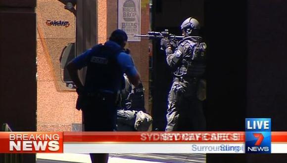 La policía ha cerrado todos los accesos al centro financiero de Sidney (Captura de video).