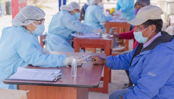 Detectan en Ancomarca y centro poblado de Alto Perú a 50 casos positivos de COVID-19 (Foto: Diresa Tacna).
