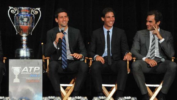 Federer, Nadal y Djokovic impulsan fondo para ayudar a tenistas en apuros económicos. (Foto: AFP)