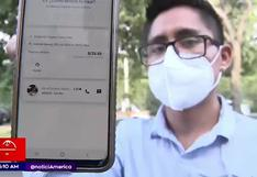Pasajero denuncia a taxista tras sufrir el robo de su computadora valorizada en 5 mil soles