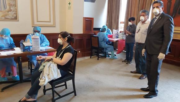 Las pruebas fueron supervisadas por el presidente del Congreso, Manuel Merino (Foto: Congreso).