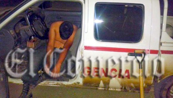 La Libertad: Captan a policía en aparente estado de ebriedad