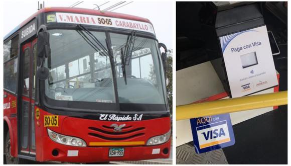 Esta nueva alternativa de pago está siendo implementada en buses de la línea El Rápido por VisaNet Perú.