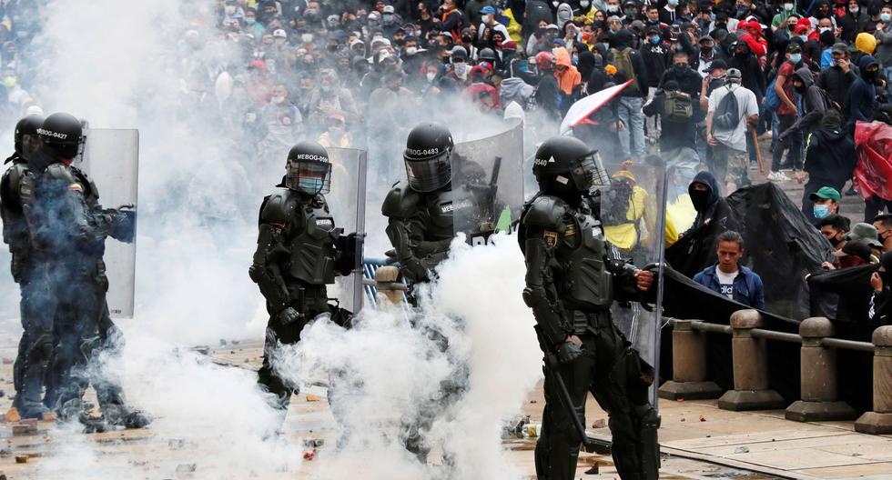 Las protestas contra el Gobierno del presidente de Colombia, Iván Duque, entraron en su tercera semana. (Foto: EFE/ Carlos Ortega)