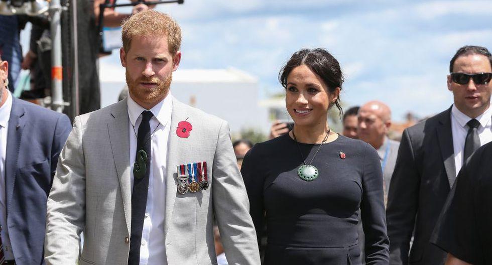 Meghan Markle y el príncipe Harry están esperando a su primer bebé que nacerá en 2019. (Foto: AFP)