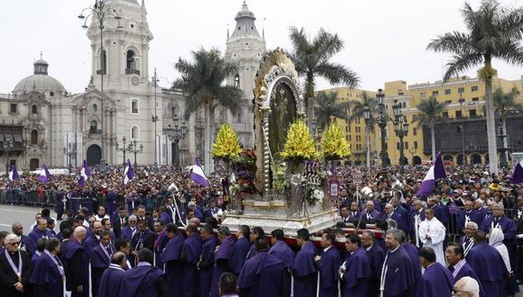 El Cristo Morado recorre la avenida Tacna, jirón Conde de Superunda, jirón Azángaro, jirón Huancavelica, avenida Abancay, Jirón Junín y jirón Huallaga (Foto: Piko Tamashiro).