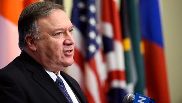 Mike Pompeo pide a países finalizar transacciones financieras con el régimen de Nicolás Maduro en Consejo de Seguridad de las Naciones Unidas. (AFP)