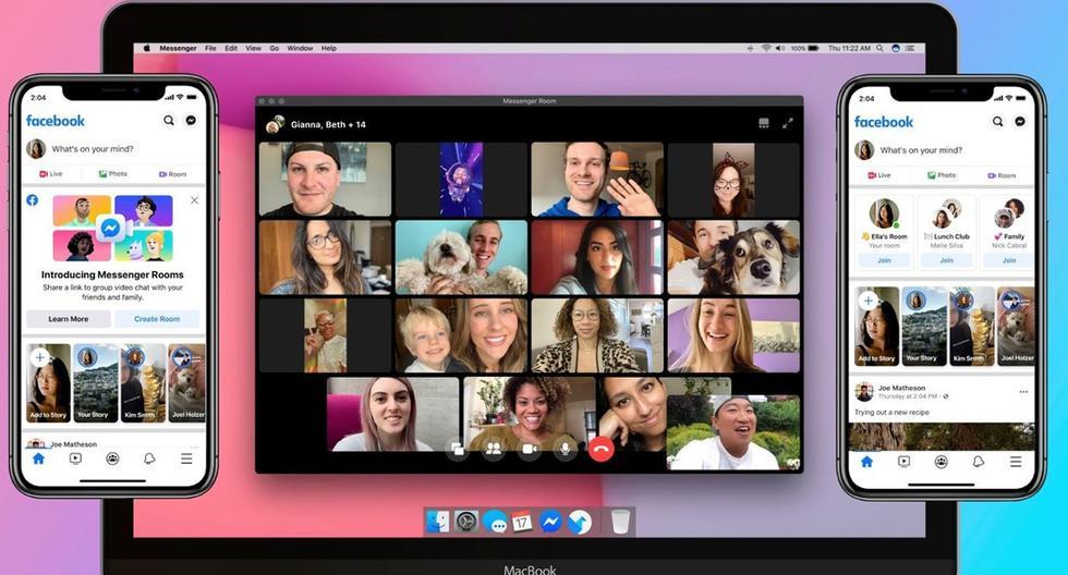 Entérate paso a paso cómo realizar una videollamada en Facebook con hasta 50 personas usando Messenger. (Foto: Facebook)