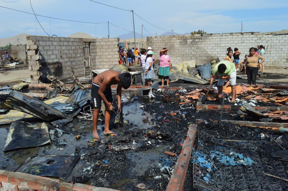 Áncash: incendio deja un bombero herido y 27 casas en escombros en Casma. (Foto: Municipalidad Provincial de Casma)