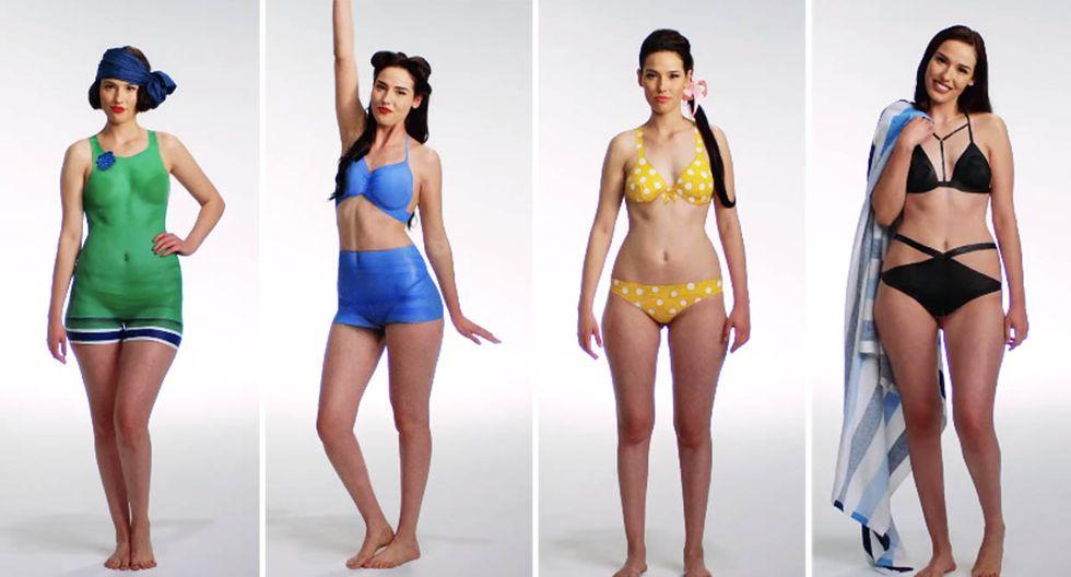 Moda: Cien años de trajes de baño pintados en un mismo ...