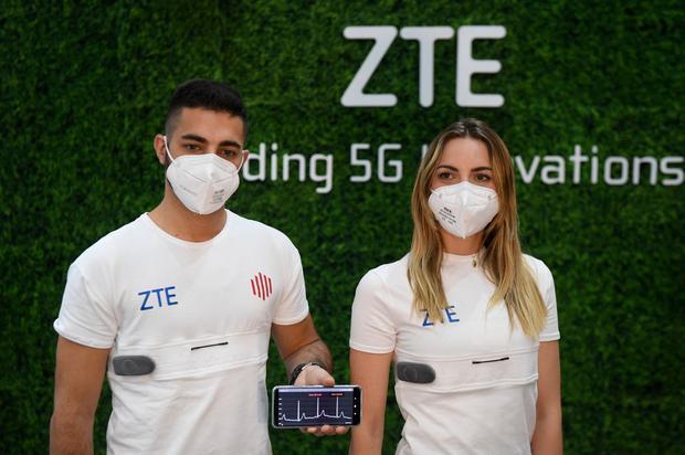 Así es la YouCare 5G Smart de ZTE y se presentó en el marco del Mobile World Congress (MWC) de Barcelona. (Foto: Josep LAGO / AFP)