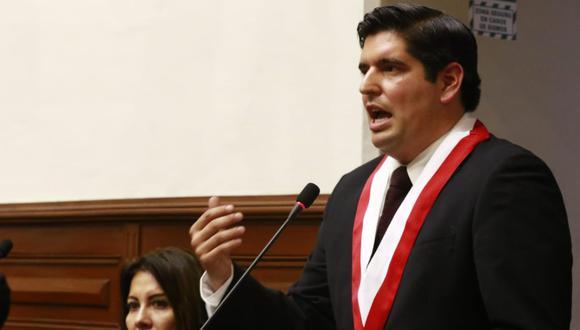 Legislador de Acción Popular, Luis Roel, critica la postura de su colega Orlando Arapa y habla de la necesidad de que su partido elija a un nuevo presidente (Foto: Congreso)