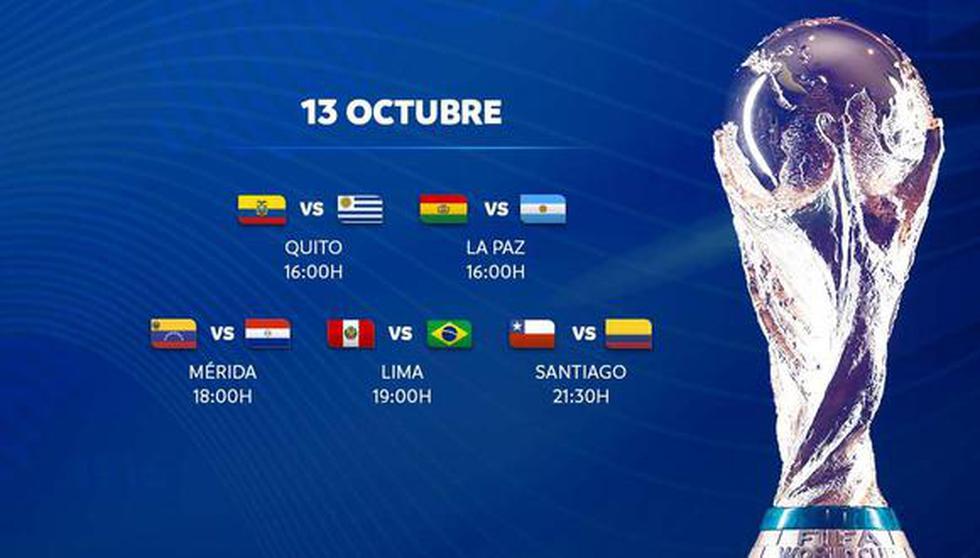 Eliminatorias Qatar 2022 EN VIVO y partidos de hoy, martes 13 de octubre: guía de TV para ver fútbol EN DIRECTO.
