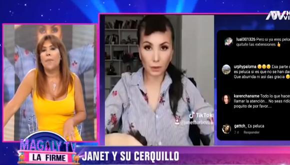 """Magaly Medina a Janet Barboza por su cerquillo: """"Todo lo haces para llamar la atención"""" (Foto: Captura video)"""