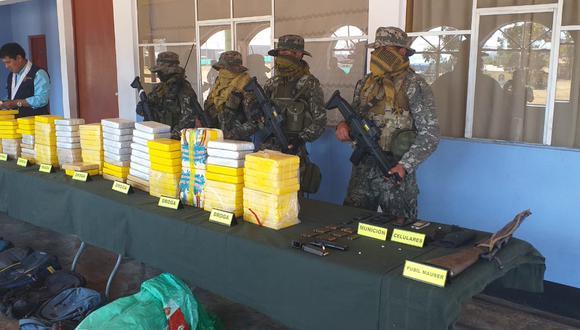 La operación se llevó a cabo en la quebrada Chequepata, al interior del distrito de Santillana, en la provincia ayacuchana de Huanta (Foto: CC.FF.AA.)