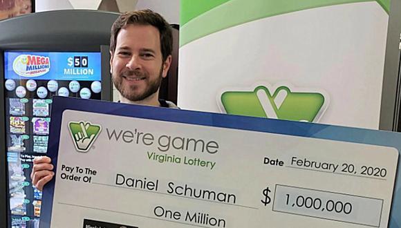 El flamante ganador dijo que aún no sabe en qué gastará el dinero. (Foto: Virginia Lottery)