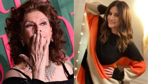 Laura Pausini recibe el cariño de Sophia Loren por su nominación al Oscar. (Foto: AFP/@laurapausini)