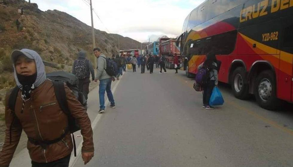 Junín: PNP desbloquea la Carretera Central tras paro de mineros. (Foto: cortesía)