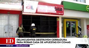 Delincuentes rompieron cerradura para ingresar a casa de apuestas en Comas