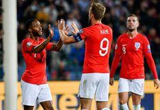 Inglaterra destruyó a Bulgaria 6-0 con estelar actuación de sus delanteros