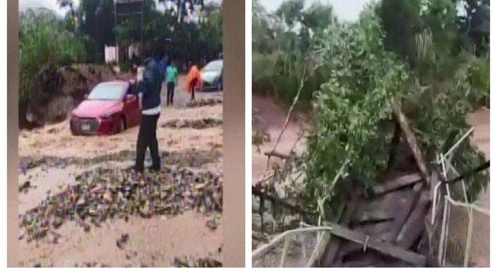 Intensas lluvias provocan daños a zonas de las regiones de Cusco y Húanuco. (Captura: Canal N)