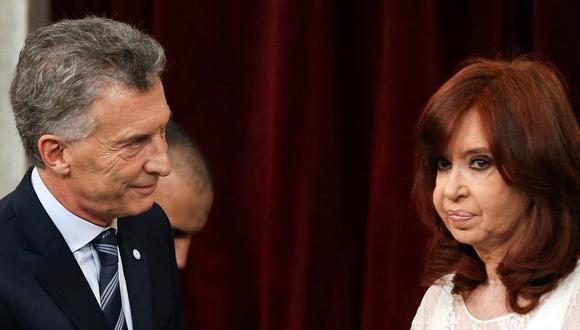 Mauricio Macri y Cristina Kirchner durante la asunción de Alberto Fernández. (Foto: Reuters/ Archivo)