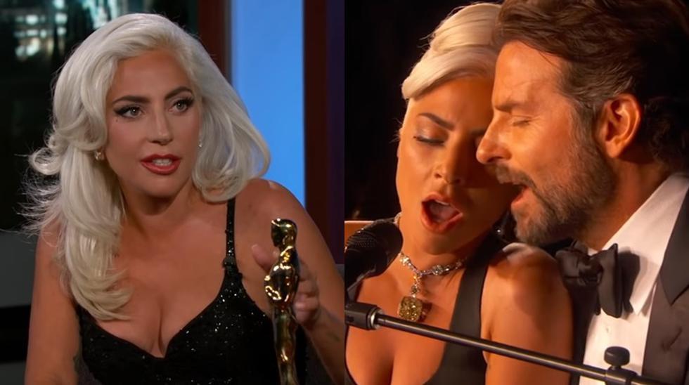 Lady Gaga durante la entrevista con Jimmy Kimmel. (Foto: captura de YouTube)
